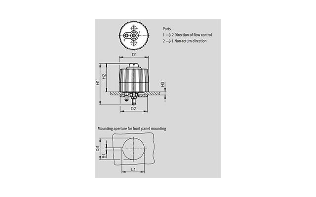Dimensões Válvula Reguladora GRP-10-PK-3 FESTO Pahc Automação