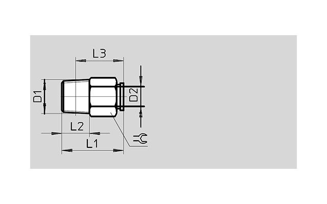 Dimensões Conexão Pneumática QSM-1/8-6 FESTO Pahc Automação